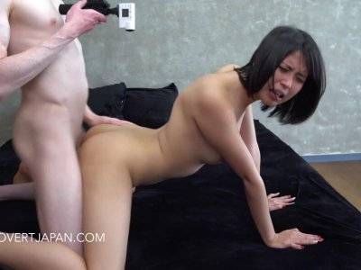 Amazing Asian chick pussy pounded and cum sprayed by hunk
